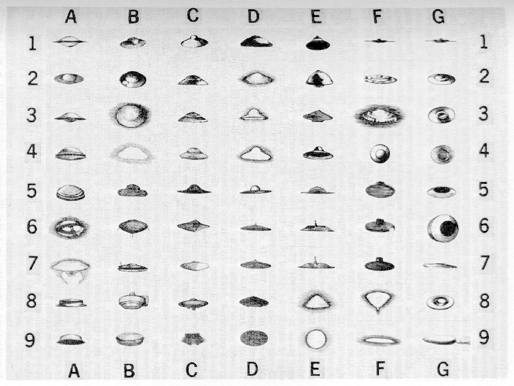 Array of ufo shapes